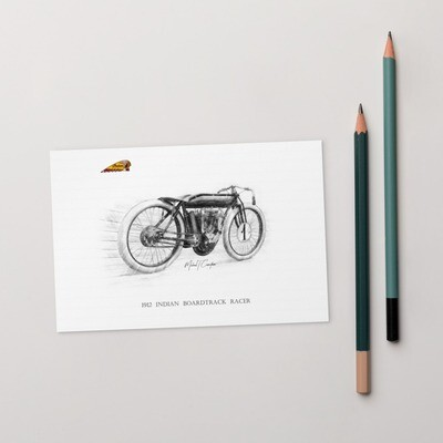 1912 Indian Boardtrack Racer Postcard