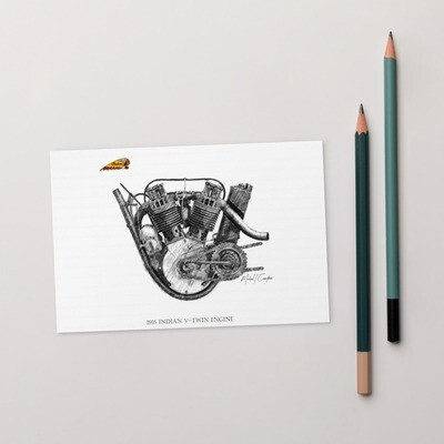 1915 Indian Engine Postcard