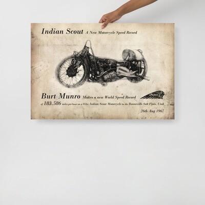 Burt Munro's 1967 World Speed Record Article Poster
