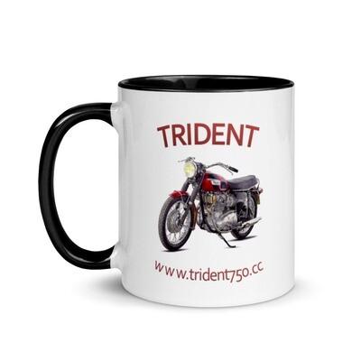 Trident 500cc Motorbike Mug with Color Inside