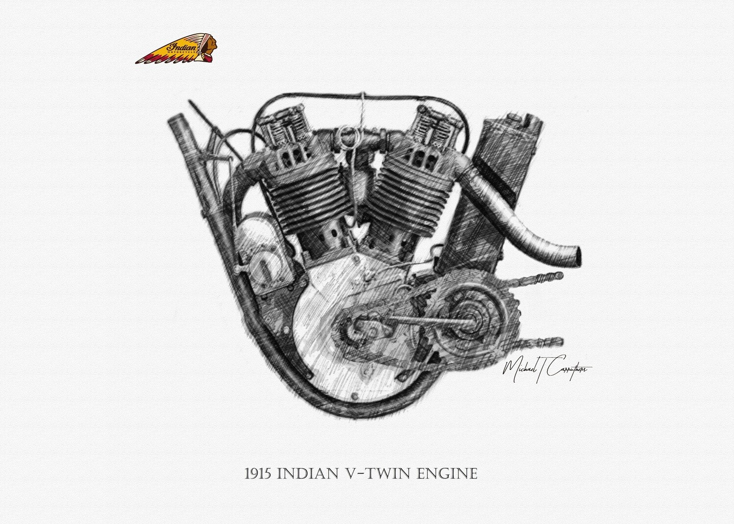 1915 Indian Engine Poster