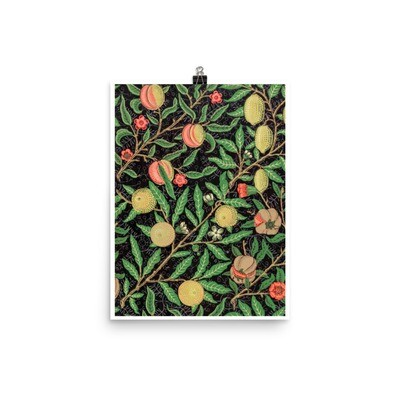 Fruit pattern (1862) Poster by William Morris