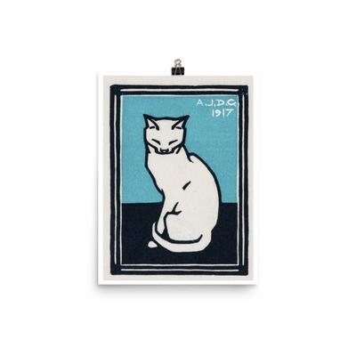 Sitting cat poster (1917) by Julie de Graag