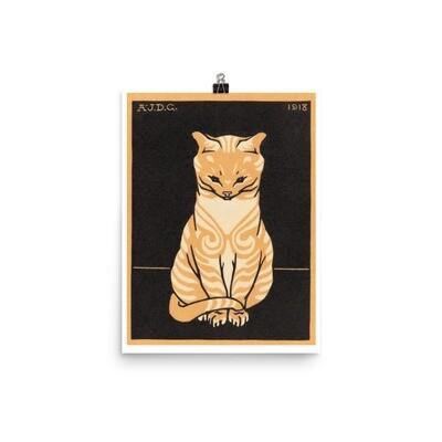 Sitting Cat Poster (1918) by Julie de Graag