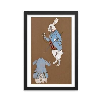 Alice in Wonderland -White Rabbit (1915) Framed poster
