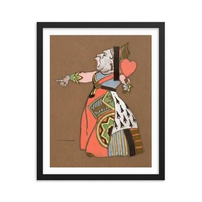 Alice in Wonderland - Queen of Hearts (1915) Framed poster