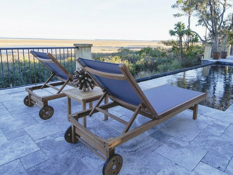 Royal Teak Collection Sundaze Teak Pool Patio Lounge Set