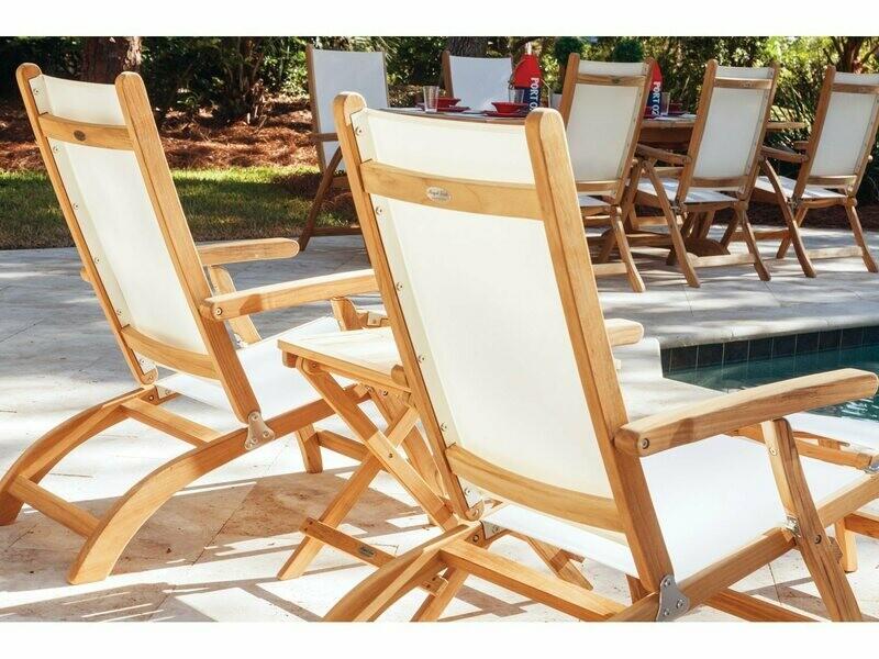 Royal Teak Collection Steamer Sling Lounge Set
