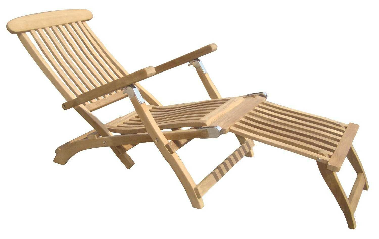 Royal Teak Collection Steamer Adjustable Chaise Lounge