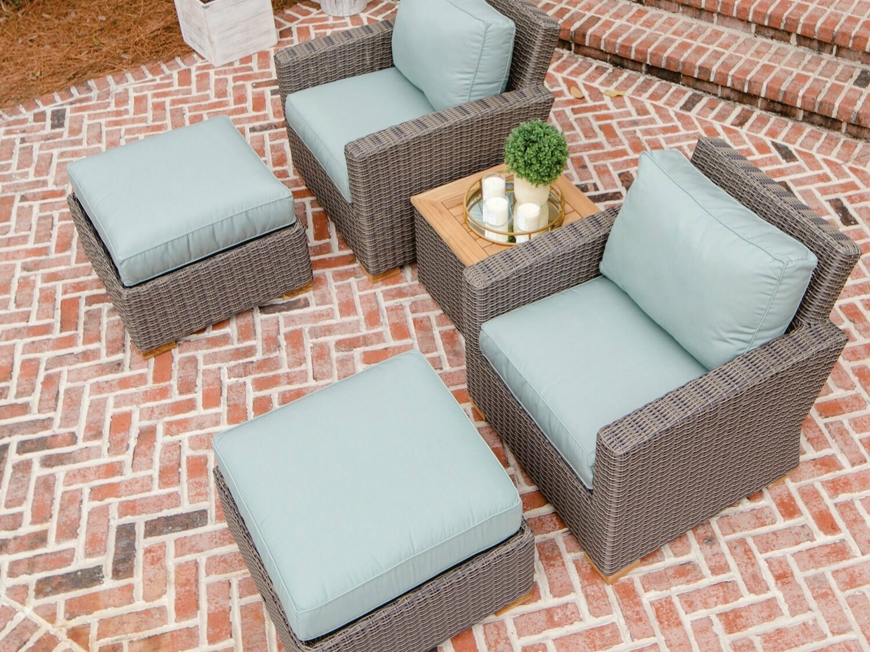 Royal Teak Collection Sanibel Wicker Lounge Set