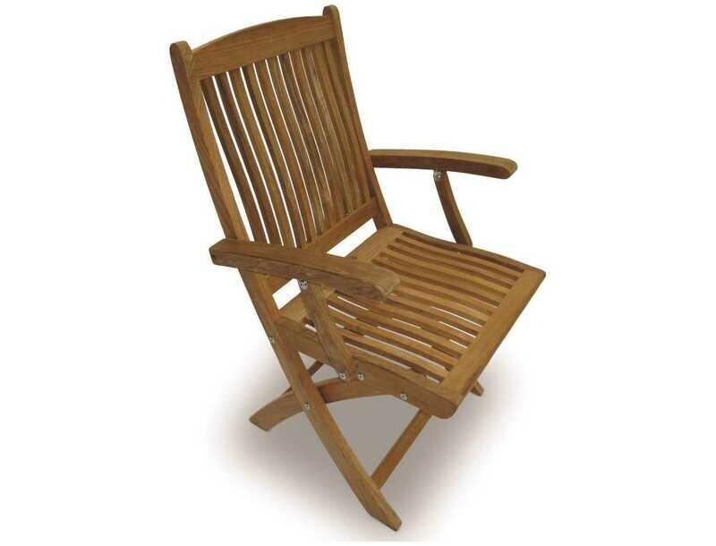 Royal Teak Collection Sailor Folding Dining Arm Chair