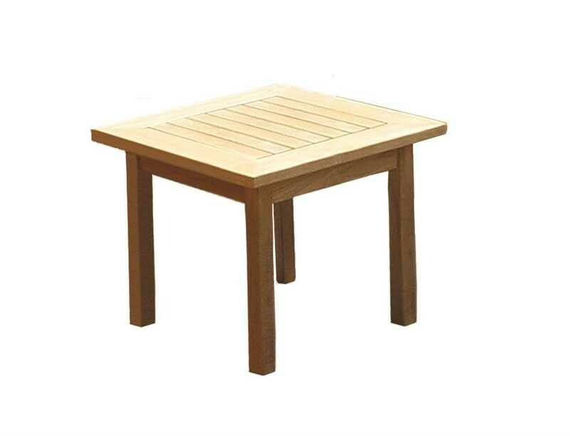Royal Teak Collection Miami 20'' Wide Square Side Table