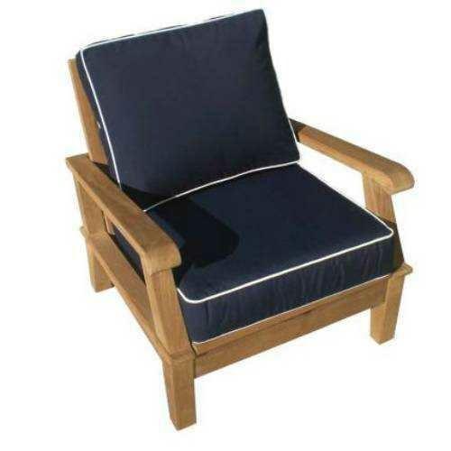 Royal Teak Collection Miami Cushion Adjustable Lounge Chair