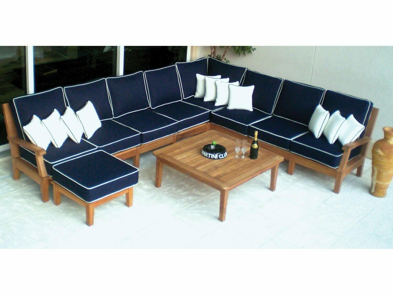 Royal Teak Collection Miami Sectional Lounge Set
