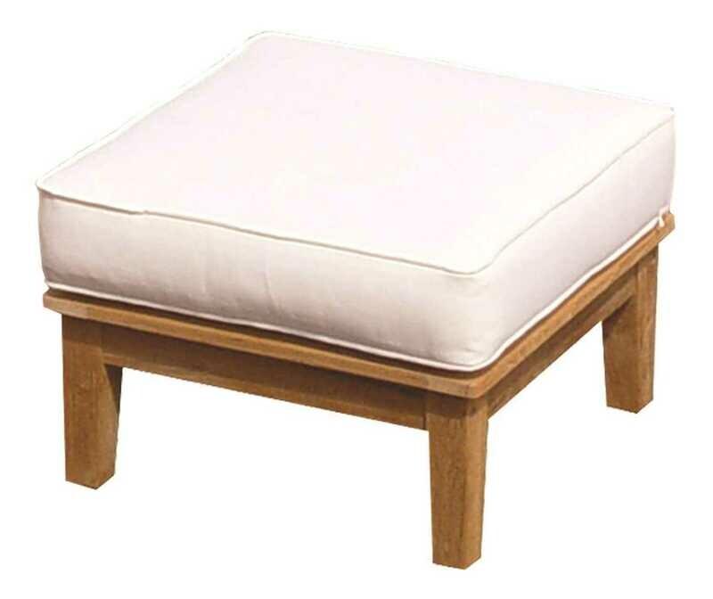 Royal Teak Collection Miami Cushion Ottoman