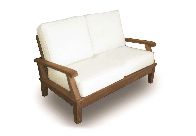Royal Teak Collection Miami Cushion Adjustable Loveseat