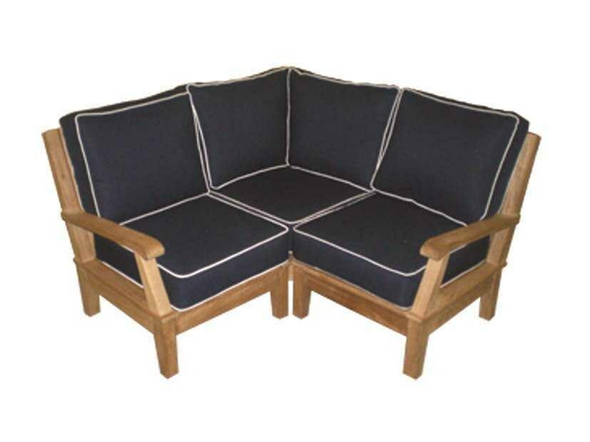 Royal Teak Collection Miami Cushion Sectional Corner
