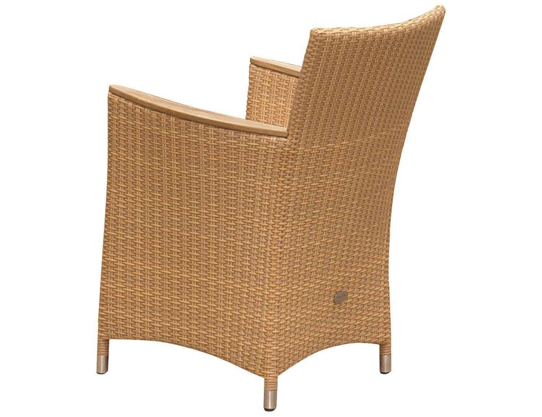 Royal Teak Helena Wicker Cushion Honey Dining Chair