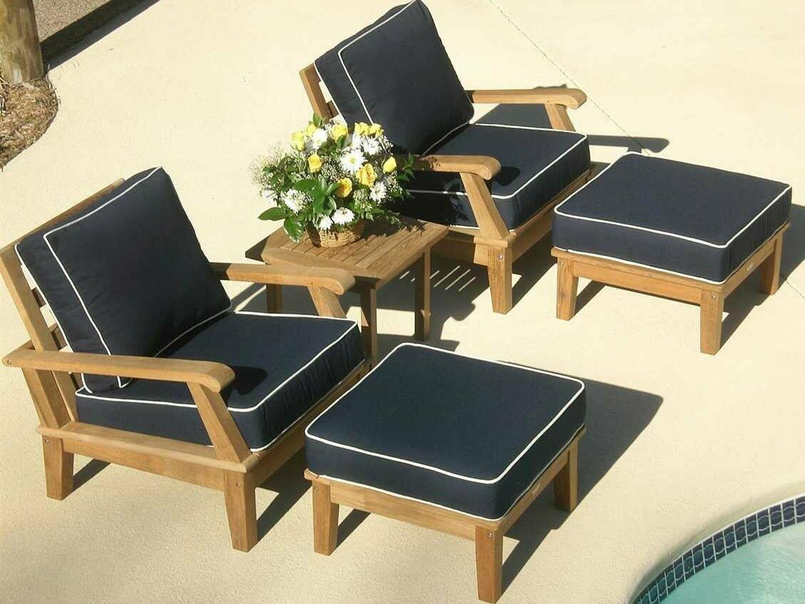 Royal Teak Collection Miami Pool Cushion Lounge Set