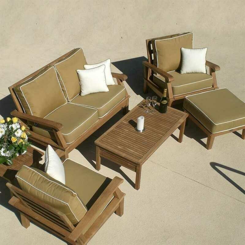 Royal Teak Collection Miami Cushion Lounge Set