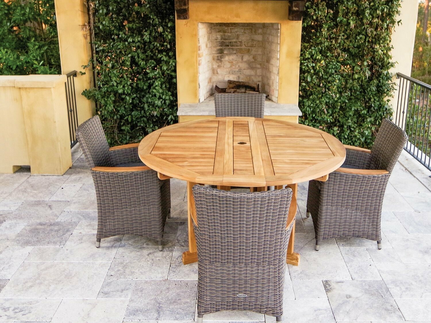 Royal Teak Collection Helena Wicker Dining Set