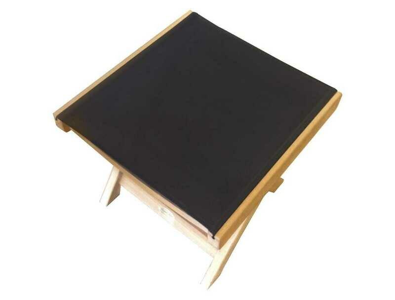 Royal Teak Collection Florida Black Sling Footrest