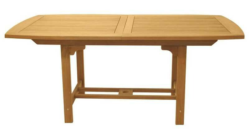 Royal Teak Collection Expansion 60''W x 35''D Rectangular Family Dining Table