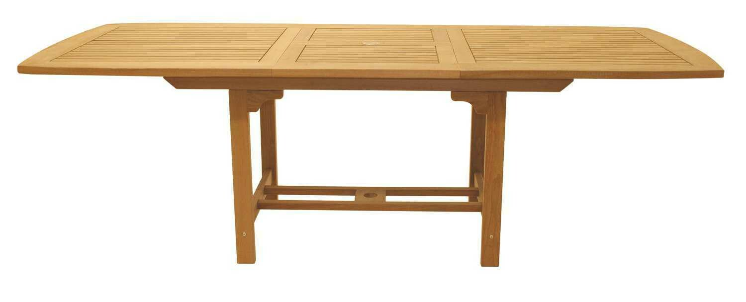 Royal Teak Collection Expansion 96''W x 39''D Rectangular Family Dining Table