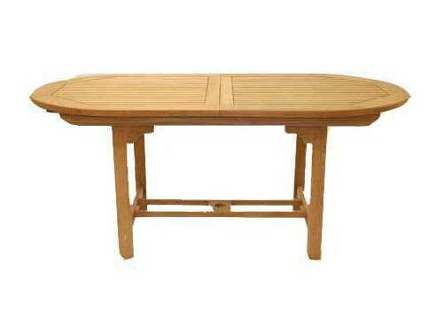 Royal Teak Collection Expansion 60''W x 35''D Oval Family Dining Table