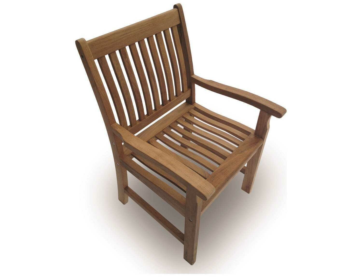 Royal Teak Collection Compass Dining Arm Chair