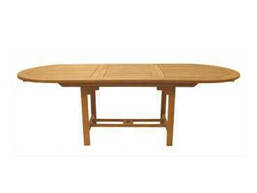 Royal Teak Collection Expansion 96''W x 39''D Oval Family Dining Table