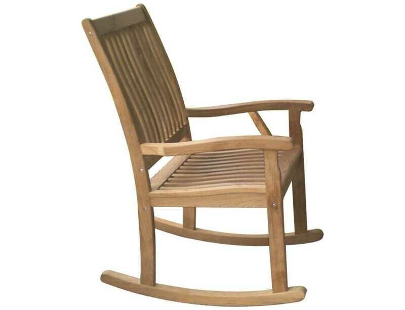 Royal Teak Collection Highback Rocking Lounge Chair
