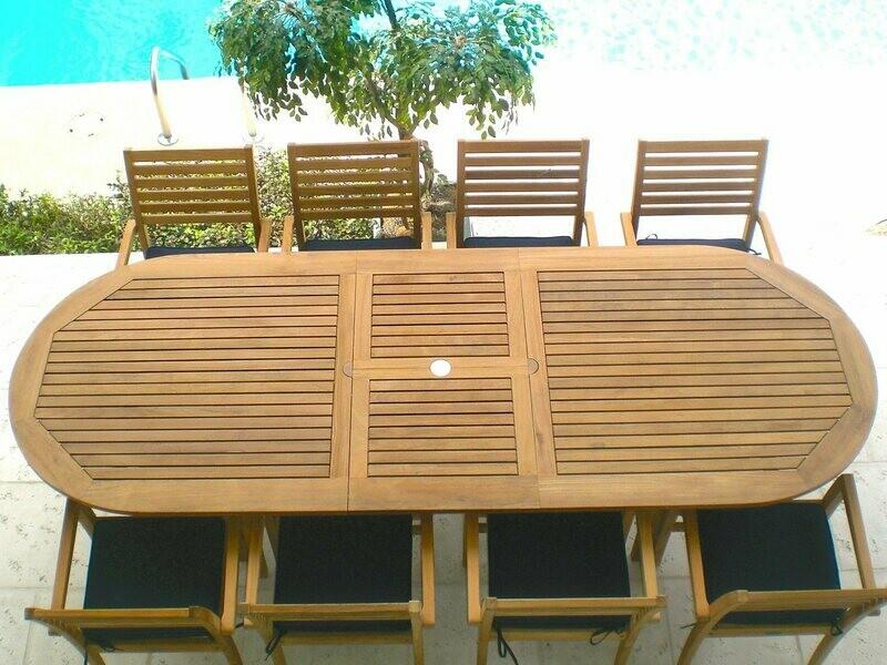 Royal Teak Collection Classic Teak Casual Patio Dining Set