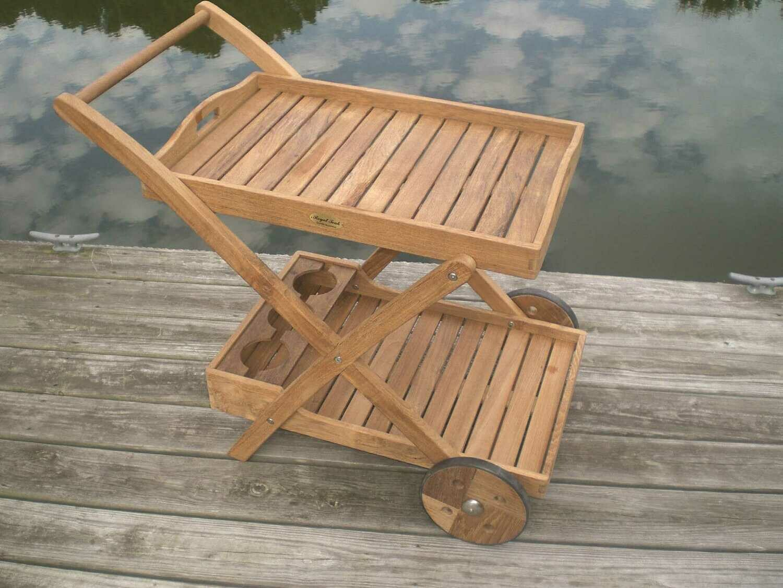 Royal Teak Collection Tray Cart