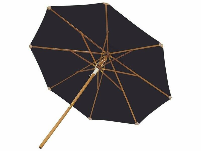 Royal Teak Collection 10' Deluxe Umbrella-Navy (Olefin Fabric)