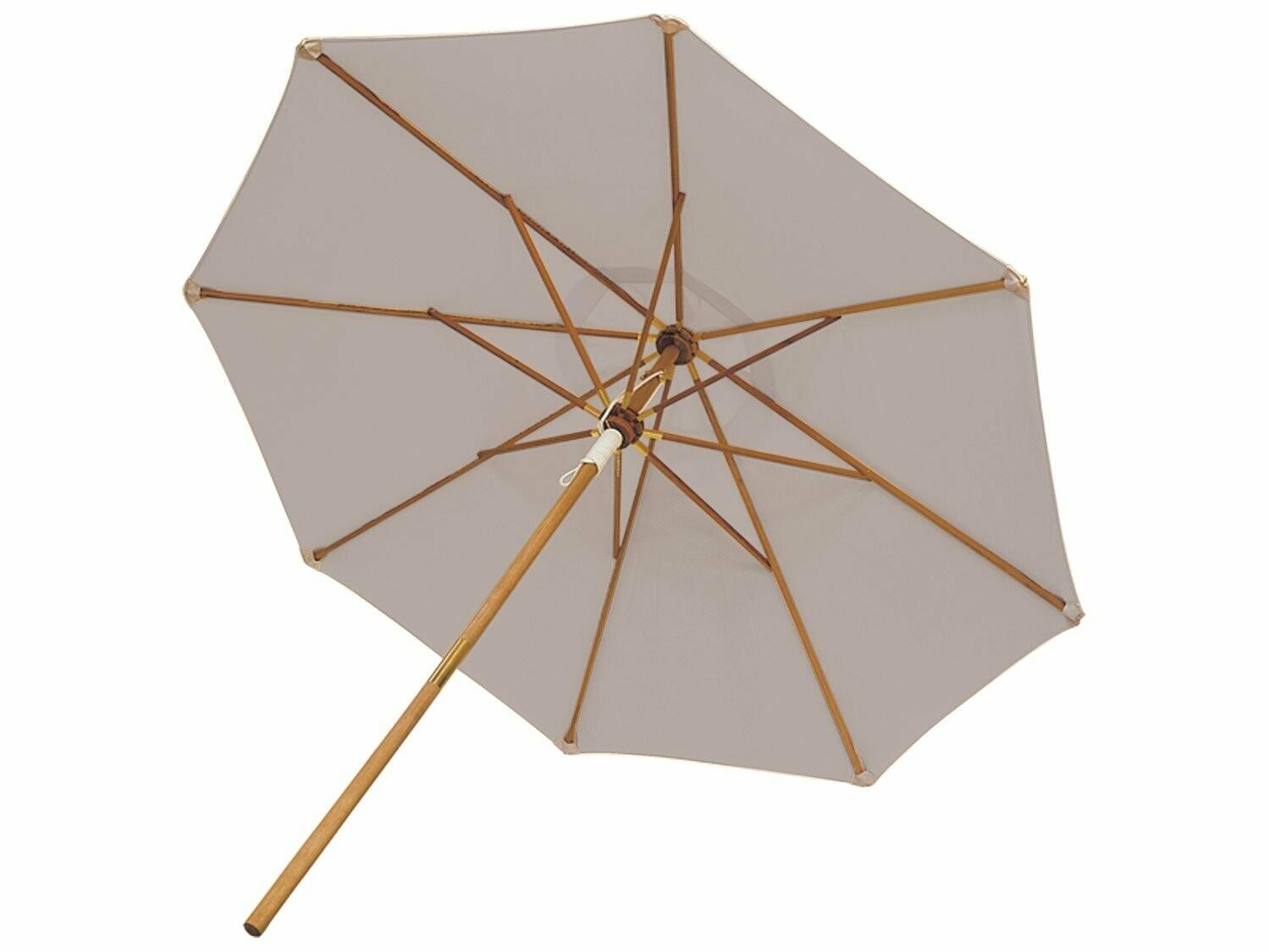 Royal Teak Collection 10' Deluxe Umbrella-Granite (Olefin Fabric)