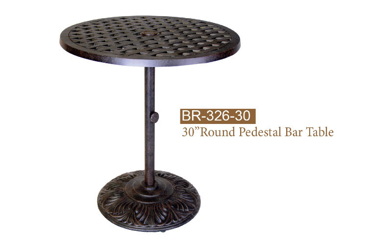 Bar Table W/Pedestal 30