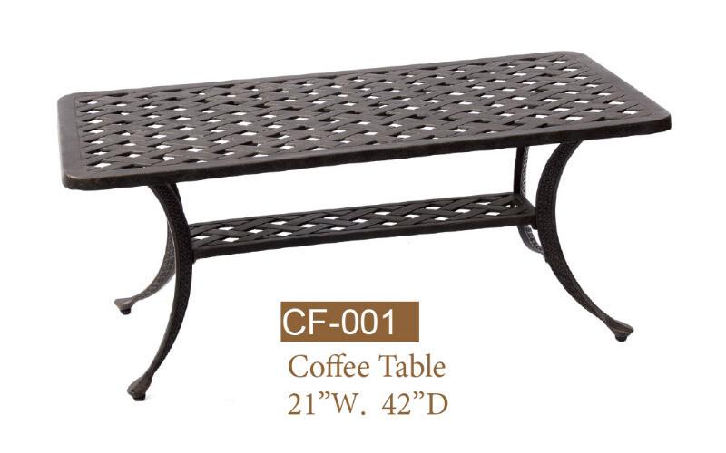 Basket Weave Coffee Table 21'' x 42''