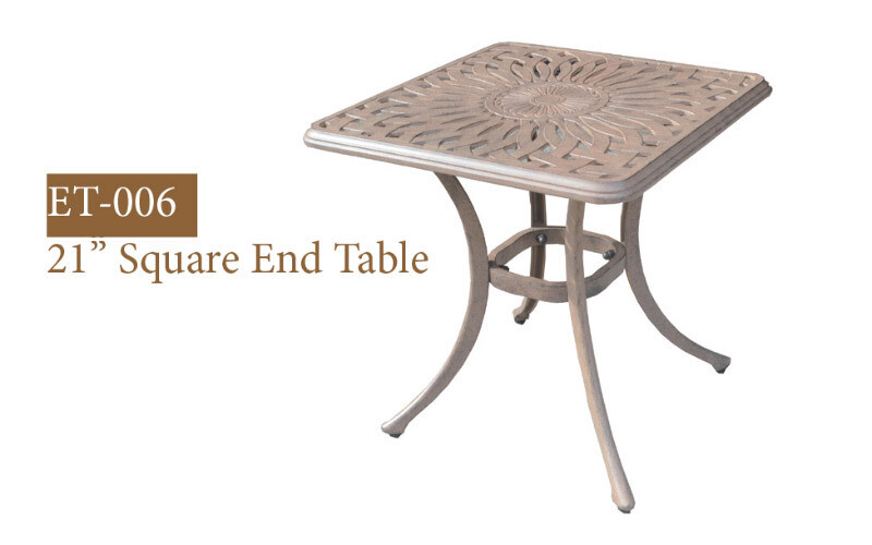 Square Diamond End Table