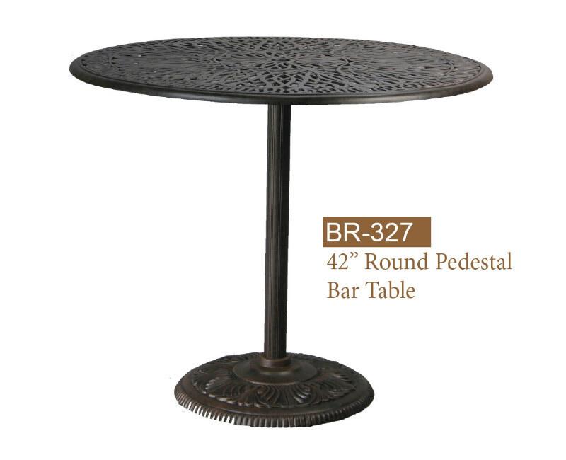 Round Pedestal Bar Table 42