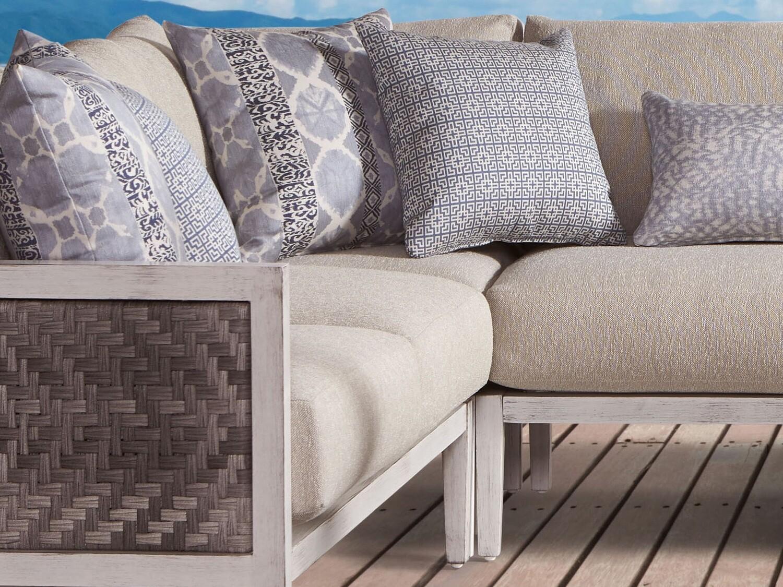 South Sea Rattan Veda Aluminum Corner Lounge Chair