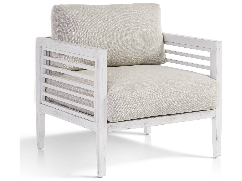 South Sea Rattan Veda Aluminum Soft White Loveseat