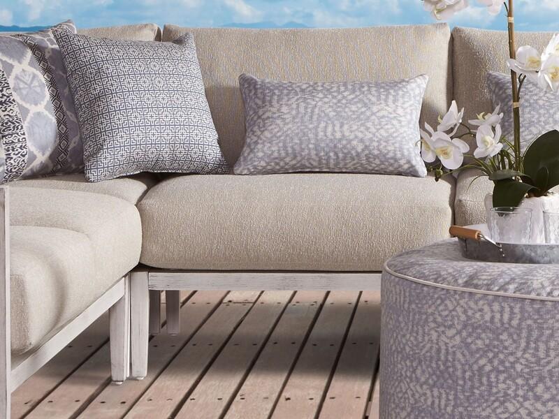 South Sea Rattan Veda Aluminum Sectional Lounge Set
