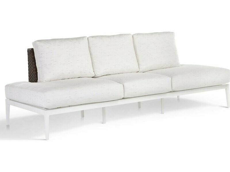 South Sea Rattan Stevie Wicker Modular Sofa with Wraparound Cushions
