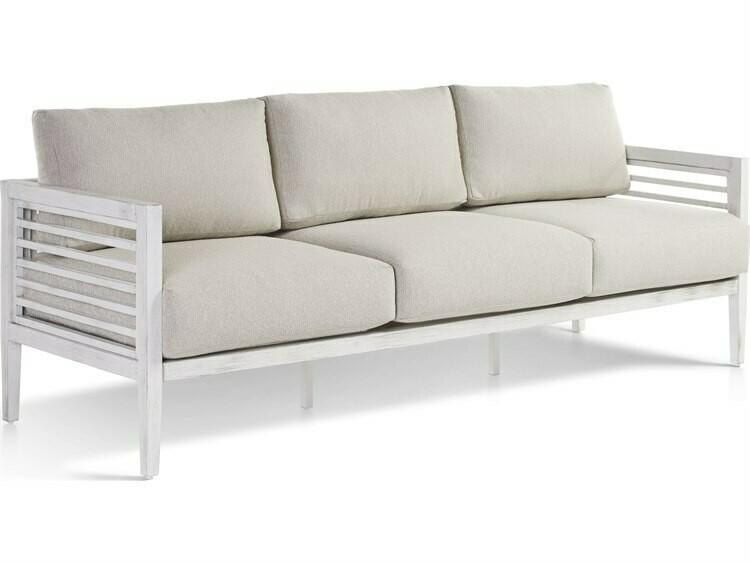 South Sea Rattan Veda Aluminum Soft White Sofa