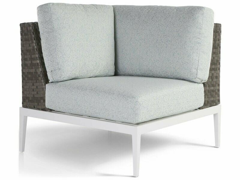 South Sea Rattan Stevie Wicker Corner Lounge Chair