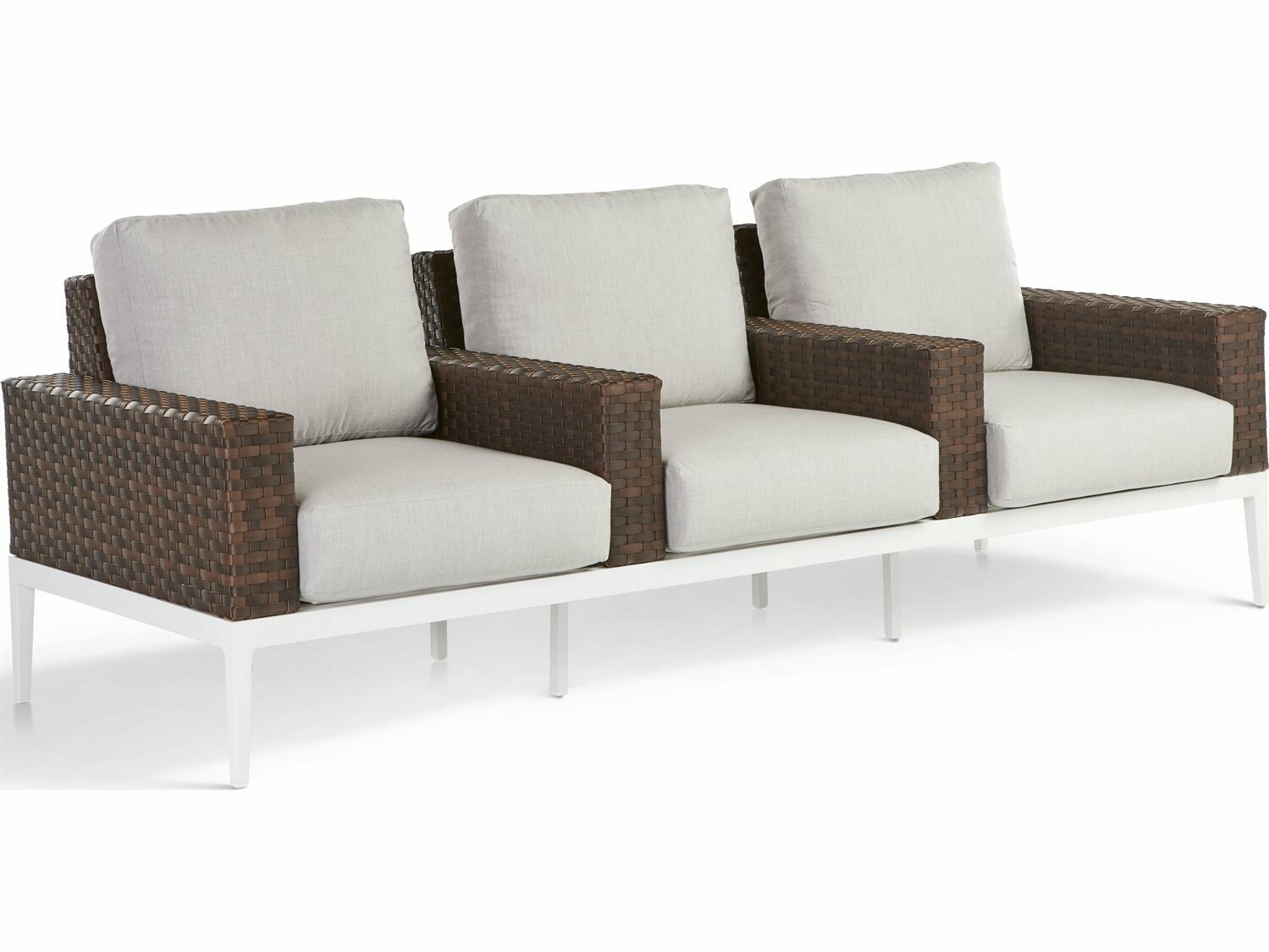 South Sea Rattan Stevie Wicker Theater - Style Sofa