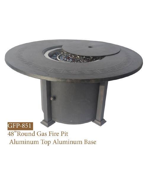 GFP Collection Round Gas Fire Pit