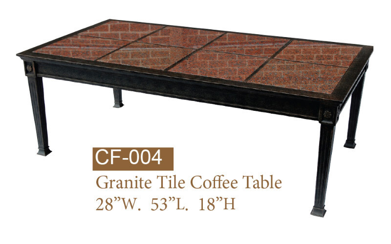 Coffee Table w/ African Red Granite Tile