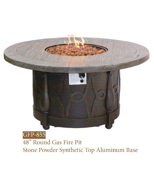GFP Collection Round Stone Powder Synthetic Fire Pit